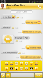 VPHO text messaging enhanced with emoticons