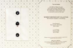 Women's Bespoke Shirt Collection Press Preview Invitation