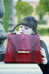 The Princess Red Satchel by Glass Handbag