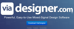 ViaDesigner.com homepage picture - the mixed signal chip design community