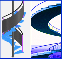Software for AutoCAD to create Circular, Curved, Helix or Spriral Stairs
