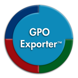 GPO Exporter lets you quickly and easily document your Group Policy Environment