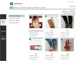 Pinterest Top Pins Report from Pinfluencer