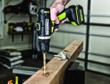 Rockwell 16V Drill-Driver drilling post hole