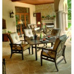 Andover Cushion Dining Set by Woodard