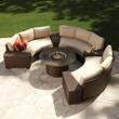 Lloyd Flanders Contempo curved sofa