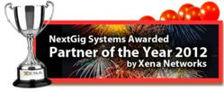 NextGig is Xena's Partner of the Year 2012