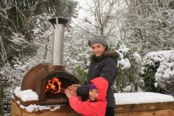 Cooking in the Primo Pizza Oven in Winter
