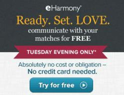 eHarmony free communication events graphic