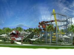 Water slide King Cobra, designed by Polin Waterparks and Pool Systems, will be the feature attraction at Santorini Park.
