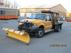 Ford F-450 with Plow and Salt Spreader