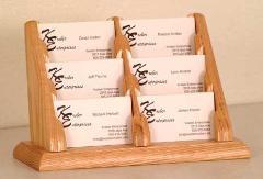 Wood Business Card Holders 6 Pocket