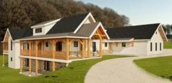 The new Revit software allows New Energy Works Timberframers' drawings and plans to develop in a realistic three-dimensional venue.