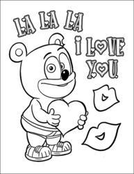Gummibär Valentine's Day Coloring Page