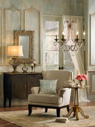 French Style Decorating Incorporates Chandeliers, Mirrors and Soft Fabrics