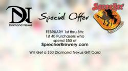 man made diamond, affordable engagement ring, sprecher, free, promotion, valentine's day
