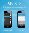 QuikIO's GPS finder lets nearby friends know you have sent content to them with QuikSend