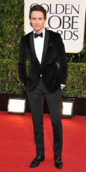 Eddie Redmayne Impresses with his Velvet Dinner Jacket During This Year's Golden Globes