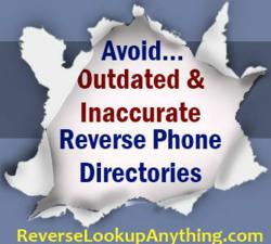 Reliable reverse cell phone lookup directory