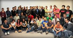 Anurag Kumar, CEO and Guillermo Ortega COO with part of iTexico's development team in Guadalajara