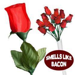 Bacon Scented Roses from Stupid.com