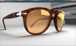 Rendered directly in the viewport with Caustic Visualizer for Autodesk® Maya® 2013. Triangles 538,696; LIghts 10 + IBL. Uses mental ray® materials, and Image Based Lighting.