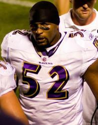 Ray Lewis on the field