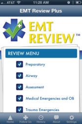 EMT Review Main Screen