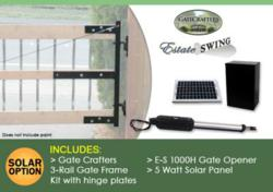 Driveway gate and gate opener package