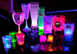 Glow in the dark Custom Printing cups glasses barware