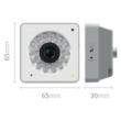 Small and sleek - The Y-cam Cube measures only 6.5cm in height & width