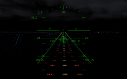 Classic B-727 HUD Display by FlyRealHUDs.com