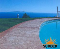 Sundek Protection Factor Plans Protect Decorative Concrete