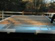Image of EcoFoil Double Bubble insulation on the trailer bed.