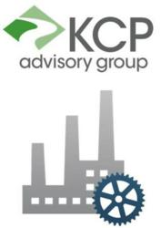 KCP Advisory Group Logo with Manufacturing Icon (c) 2013
