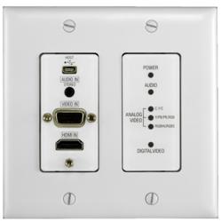 AMX DXLink Multi-Format Decor Style Wallplate Transmitter