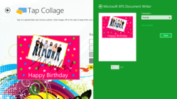 Personalize photos with the Tap Collage Windows 8 app and handwriting.