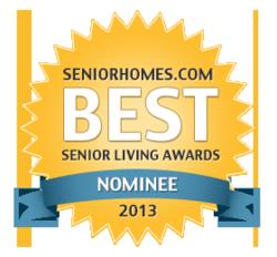 Senior Housing Best of the Web Nomination Badge