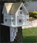 Large Wooden Architectural Birdhouse Mansion