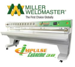 impulse welding machine for blinds, screens, shades and awnings