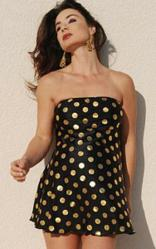 Black Polka Dot Maternity Swimsuit