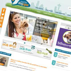 seattle business directory website homepage design