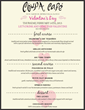 Coupa Café's Valentine's Day Menu