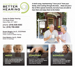 hearing aids in Glens Falls NY - Center For Better Hearing new hearing test