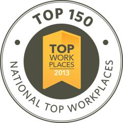 National Top 150 Workplaces logo