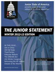 Cover of the Winter 2013 Junior Statement