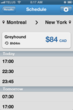 Bus travel from Montreal to New York