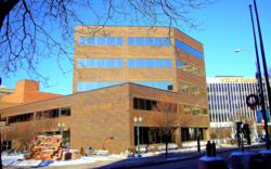 A prime five-story office situated in the central core of the Downtown Sioux Falls Business District.