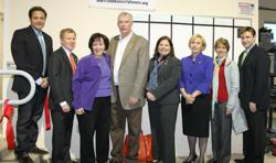 Featured from left to right: AnythingIT COO Vlad Stelmak, Senator Robert Gordon, County Executive Kathleen A. Donovan, Mayor of Fair Lawn John Cosgrove, Freeholder Maura DeNicola, Acting Governor Kim Guadagno, Fair Lawn Councilwoman Lisa Swain, and Anythi