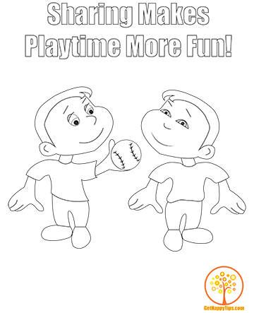 child sharing coloring pages - photo#18